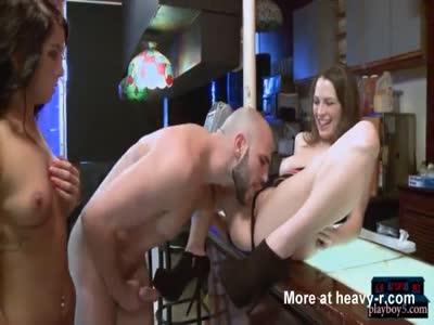Carefully probing her vagina